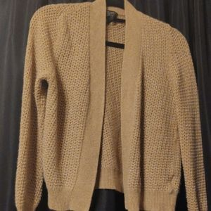 CASHMERE LUXURY CARDIGAN CHARTER CLUB NUDE BROWN